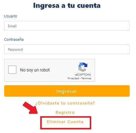 """Habilitada opción de """"Eliminar cuenta"""" para corregir errores en el RUMV"""