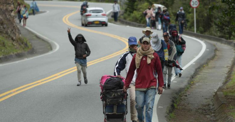 El migrante venezolano perdió el miedo a caminar por segunda vez