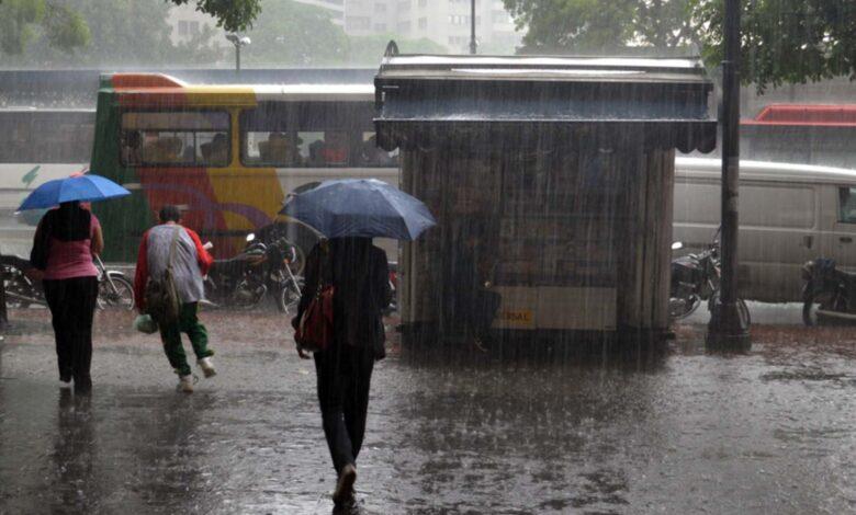 alerta de lluvias Venezuela